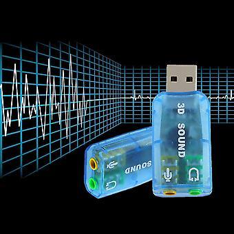 Usb 1.1 Micro / haut-parleur Surround Son 7.1 Ch 3D Adaptateur de carte audio pour PC portable