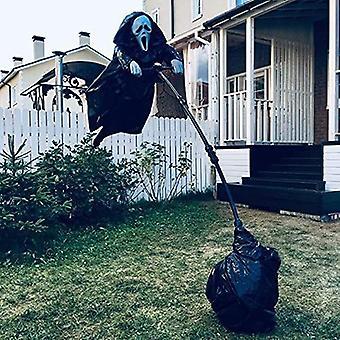 Halloween Ghostface Skrik Fugleskremsel Grimace Skull Hage Dekorasjon