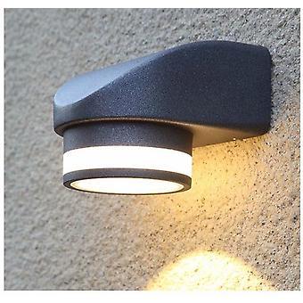 Led Außenwandleuchte Einweg-Lampenfassung (schwarz (weiß Licht)