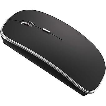 Vezeték nélküli egér Imac asztali számítógéphez Windows Chromebook (fekete ezüst)