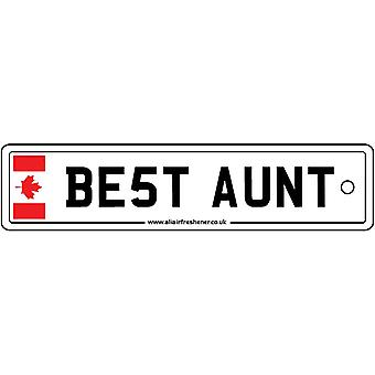 Canada - Best Aunt License Plate Car Air Freshener