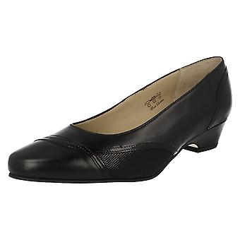 Ladies Equity Wide Fitting Smart Shoes Pearl