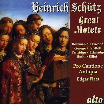 H. Schutz - Heinrich Sch Tz: Importación de los E.e.u.u. grandes motetes [CD]