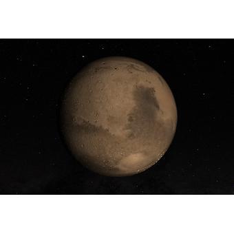 惑星火星のヘラス盆地は、ポスター印刷のイメージの右下の部分で見ることができます。
