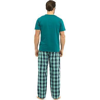 Wilk & Harte bawełniana męska Krótki rękaw Top Piżama salon nosić