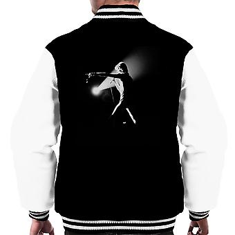 David Bowie Final Ziggy Stardust Hammersmith Odeon Black And White 1973 Men's Varsity Jacket