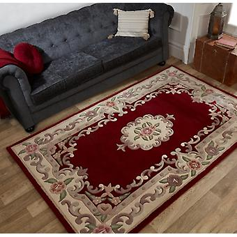 Lotus Aubusson Red  Half Moon Rugs Traditional Rugs