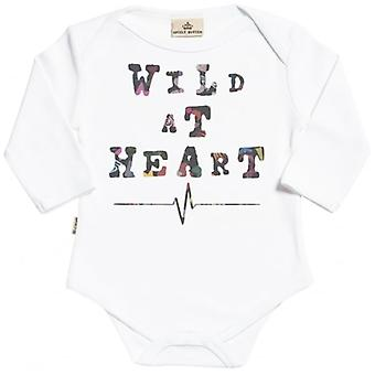 Spoilt Rotten Wild At Heart Organic Babygrow In Gift Milk Carton
