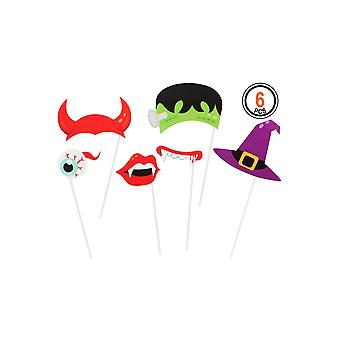 Halloween og horror Photobooth Halloween sæt