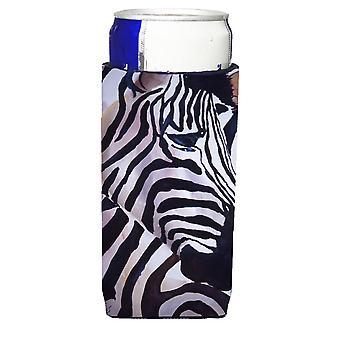Zebra cabeza Ultra bebidas aisladores para latas de slim