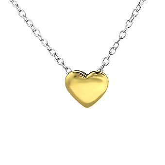 Heart - 925 Sterling Silver Plain Necklaces - W29907x
