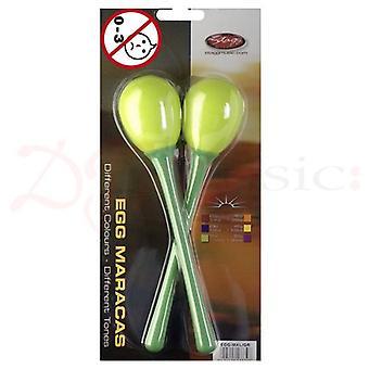 Stagg Green Long Plastic Egg Maracas