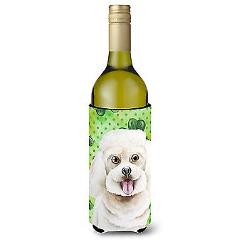 Bichon Frise Shamrocks Wine Bottle Beverge Insulator Hugger