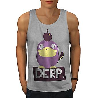Derp Duck Joke Cool Men GreyTank Top | Wellcoda