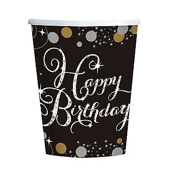 Amscan Sparkling Celebration Birthday 9oz Paper Cups (Pack Of 8)