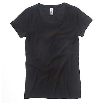 Bella Canvas Ladies Baby rib short sleeve sccop neck T-shirt