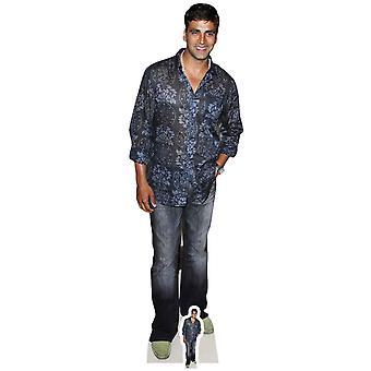 Akshay Kumar Lifesize pap påklædningsdukke / Standee / Standup