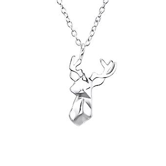 Origami Deer - 925 Sterling Silver Plain Necklaces - W25822x
