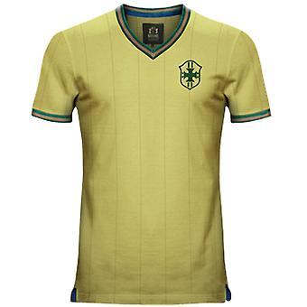 Vintage Brazil Home Soccer Jersey