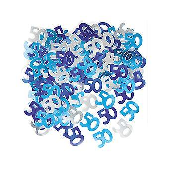 Anniversaire Glitz bleu - 50e anniversaire Confetti