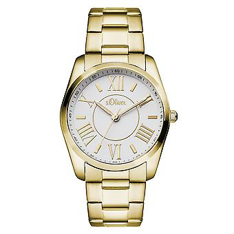 s.Oliver женские наручные часы аналоговые IP золото так-15114-MQR