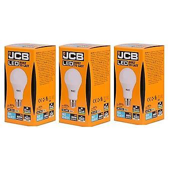 3 X JCB führte 15 Watt Schraubverschluss GLS Cool weiß 4000K 100W Ersatz ES E27 LED Lampe [Energieeffizienzklasse A +]