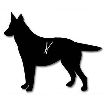 De Labrador bedrijf Waggy staart klok - Duitse herder