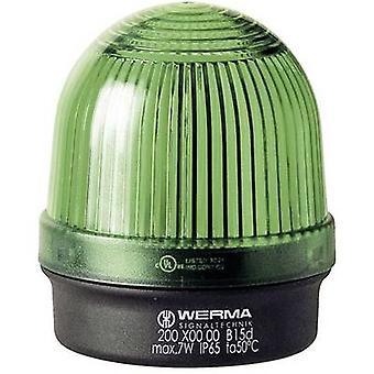 Werma Signaltechnik Luz 200.200.00 200.200.00 Señal de luz verde sin parar 12 V AC, 12 V DC, 24 V AC, 24 V DC, 48 V AC, 48 V DC, 110 V AC, 230 V AC
