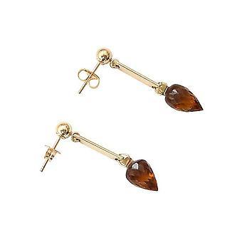 Stud Øreringe perler gul krystal dråbe øreringe YASMIN Guld belagte