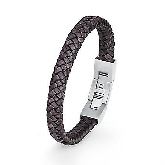s.Oliver jewel mens leather bracelet stainless steel 2018719