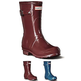 Womens Hunter Original Short Gloss Wellies Festival Snow Rain Winter Boot UK 3-9