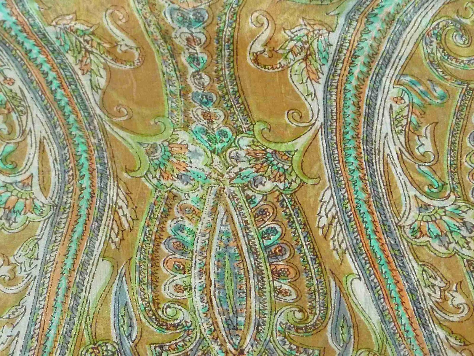 Mulberry Silk Traditional Long Scarf Dana Caramel by Pashmina & Silk