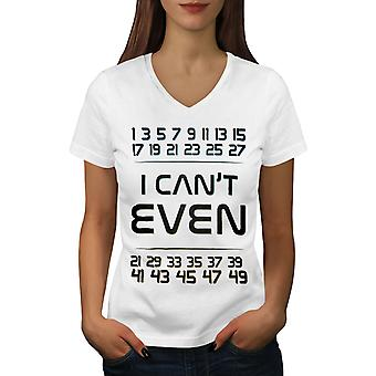 Geek Math Numbers Women WhiteV-Neck T-shirt | Wellcoda
