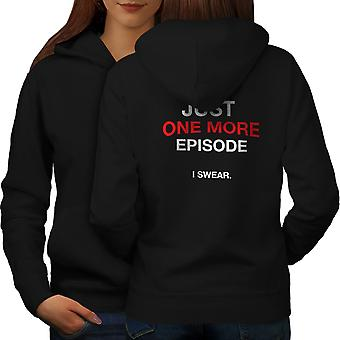 TV Bağımlısı Kadınlar BlackHoodie Geri   Wellcoda