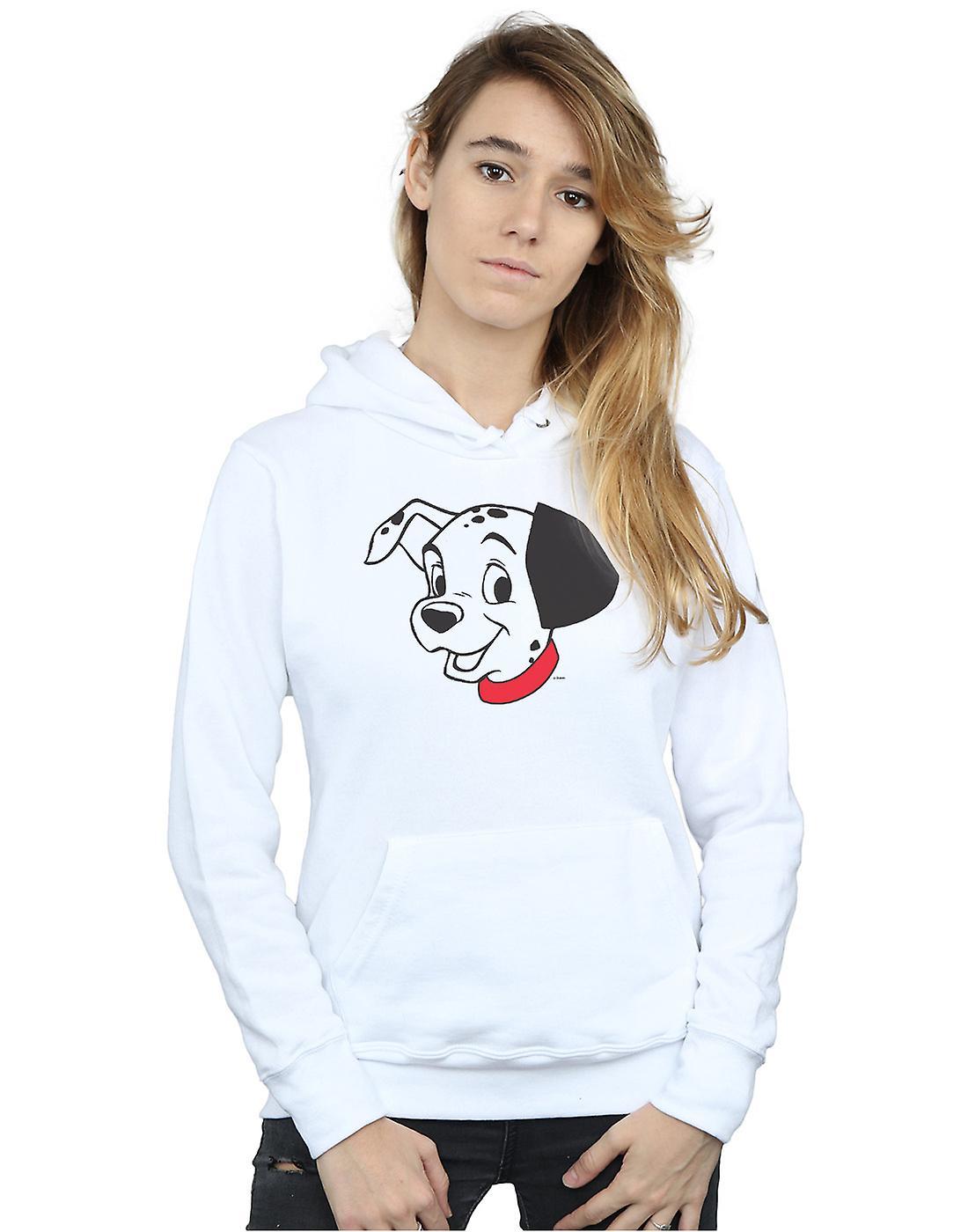 Disney Women's 101 Dalmatians Dalmatian Head Hoodie