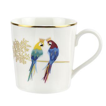 Sara Miller Piccadilly Mug Posing Parrots