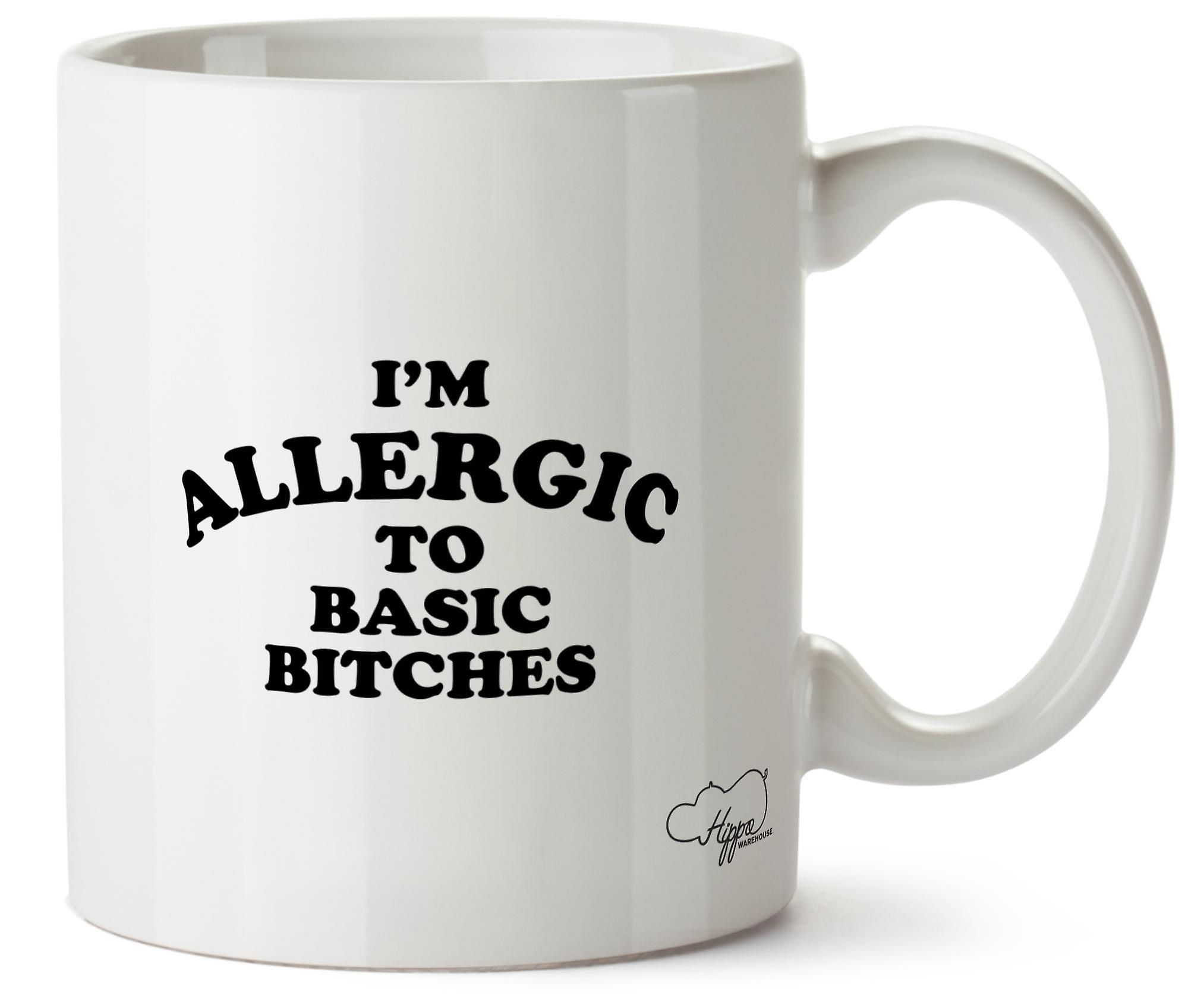 Hippowarehouse, у меня аллергия на основные суки напечатаны Кубка керамическая кружка 10oz