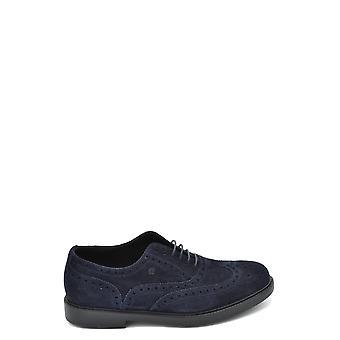 Fratelli Rossetti Ezbc052026 Men's Blue Suede Lace-up Shoes