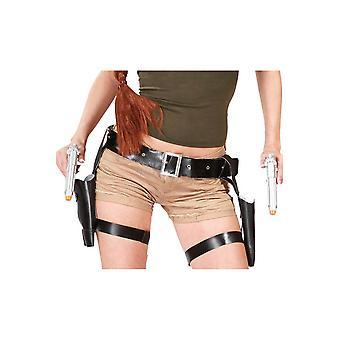 Accessories  Weapon belt for legs black Croft