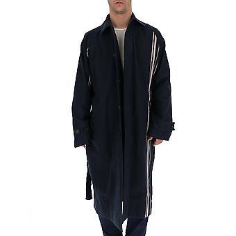 Acne Studios B90085navypowderpink Men's Black Cotton Coat