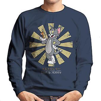 Tom e Jerry Retro japonês camisola homens