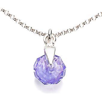 Ah! Kryształów Briolette Tanzanite biżuteria z naszyjnik Swarovski, srebro
