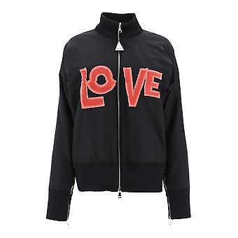 Moncler Genius 4537705539jq999 Women's Black Nylon Outerwear Jacket