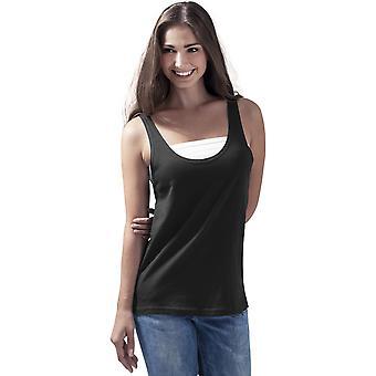 Cotton Addict Womens Lightweight Wide Fit Tank Top Vest Top