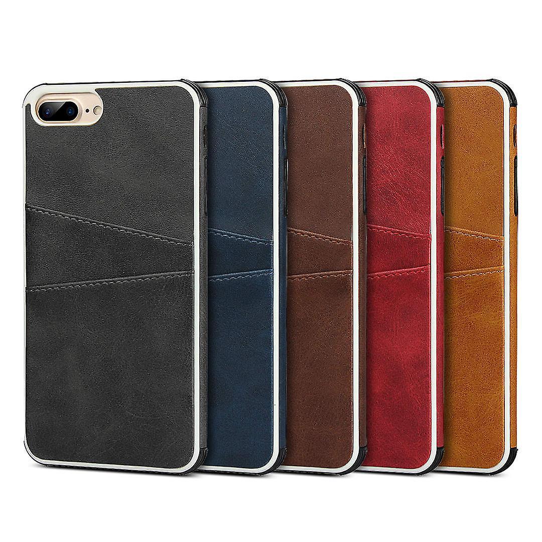 iCoverCase | iPhone 6 Plus | Skal med kortfack | Äkta Skinn