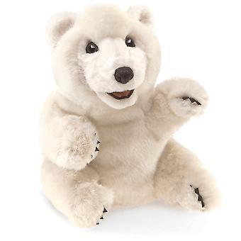 Hand Puppet - Folkmanis - Bear Sitting Polar New Toys Soft Doll Plush 3103