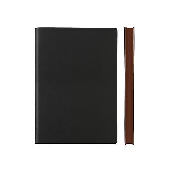 Daycraft Signature A5 Grid Notebook, Fine Italian PU Leather, 176 Page - W151 mm x H212 mm, Various Colours