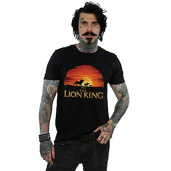 Disney Men's The Lion King Movie Sunset Logo T-Shirt