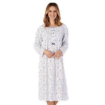 スレンダーラ ND4101 ウィメンズ&アポス;s ジャージー フローラル コットン ナイトドレス