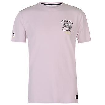 Firetrap Mens Dragon T Shirt Crew Neck Tee Top Kortärmad bomull Print
